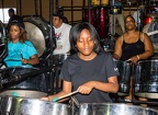 Adlib Steel Orchestra rehearsing on the last evening before Panorama